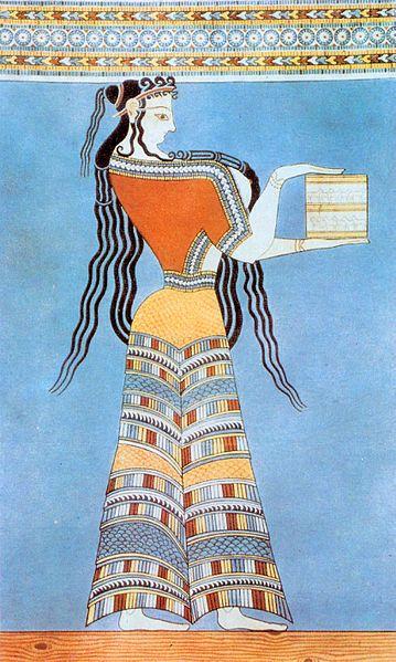 Mycenaean Woman (Fresco)  Dateca. 1300 BC