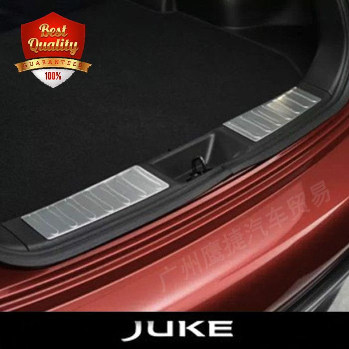 High Quality Stainless Steel built-in rear bumper foot plate fit for NISSAN JUKE 2010-2015 Auto back sill cover
