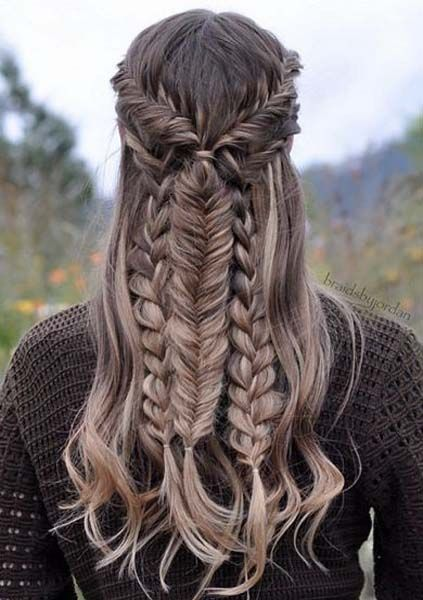 Gorgeous Mixed Braid Hairstyle 2017