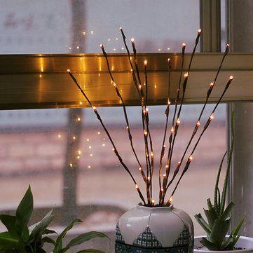 20 Leds Christmas Branch Lights Luminous Twig Light Wedding Festival Home Romantic Decor - Newchic Mobile