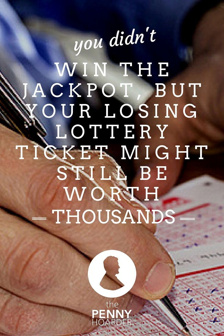 Whether you play the lottery or love scratch-off tickets, you've probably never won the jackpot. But did you know your tickets could still help you win thousands of dollars in cash and prizes in the second chance lottery? - The Penny Hoarder http://www.thepennyhoarder.com/second-chance-lottery/