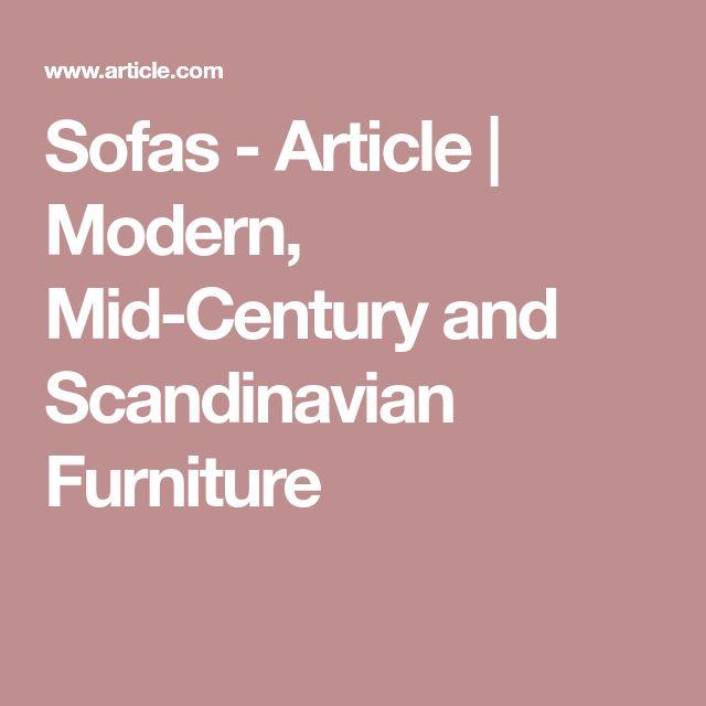 Sofas - Article | Modern, Mid-Century and Scandinavian Furniture