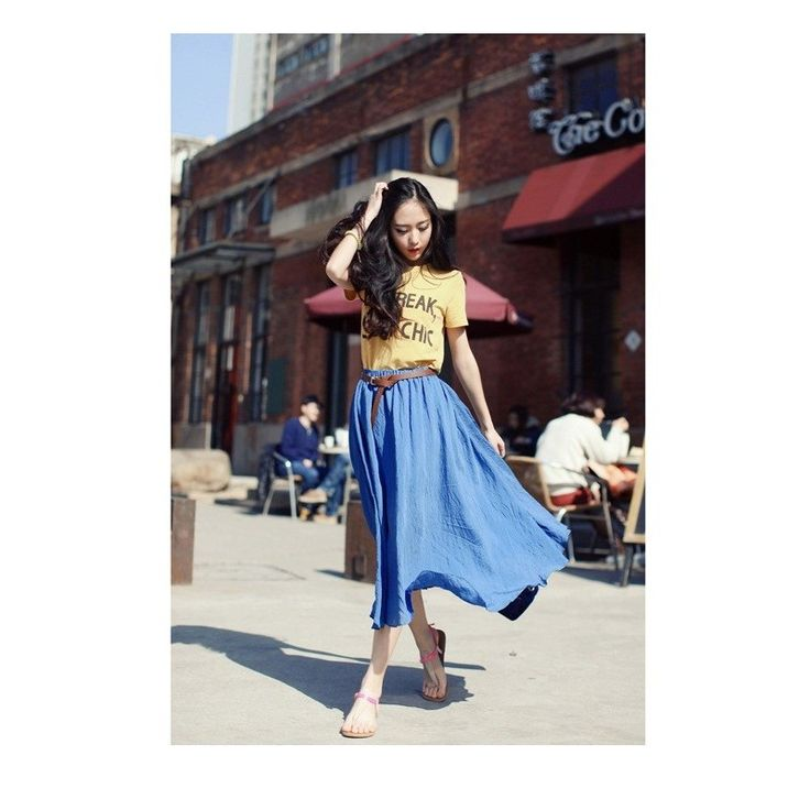 Blue Long Skirt RK019 Model  102403blue Condition  New  RK019 Color : Blue BRAND: RJ STORY Material : cotton strong elastic length75 waist60-110 210gr Retail IDR190,000	Reseller IDR142,500	Wholesaler IDR118,750