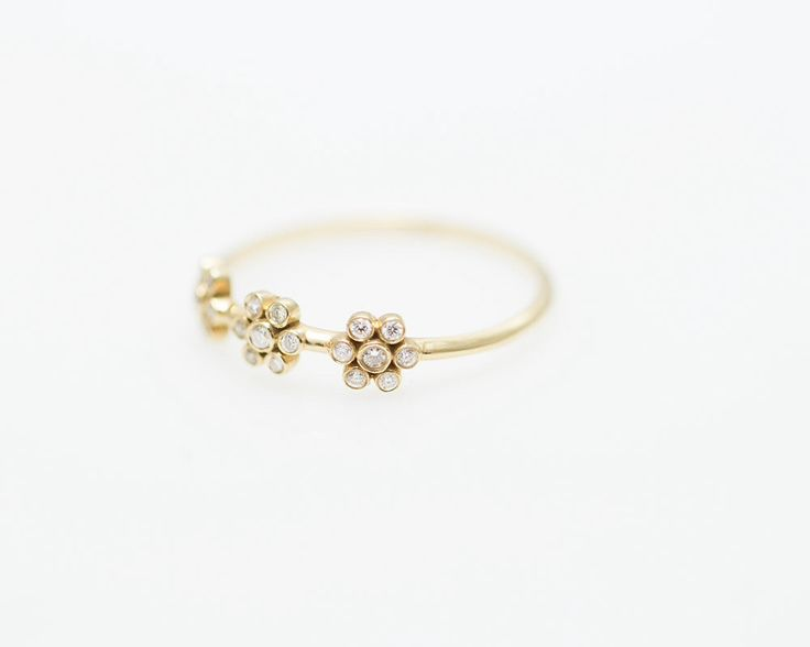 Unique diamond rings,  delicate engagement ring, flower gold ring,diamond engagement rings, small diamond ring, Unique ring, love ring by StavFineJewelry on Etsy https://www.etsy.com/uk/listing/463117672/unique-diamond-rings-delicate-engagement