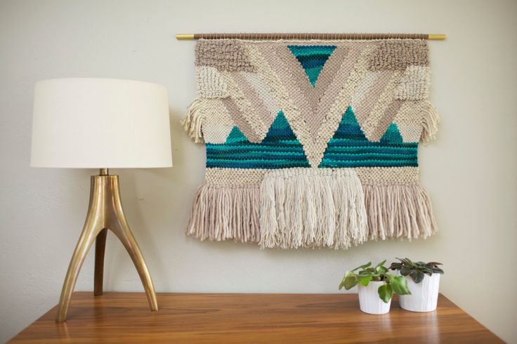 Large Hand Woven Textile Wall Hanging / Boho by SmoothHillsWeaving, $250.00