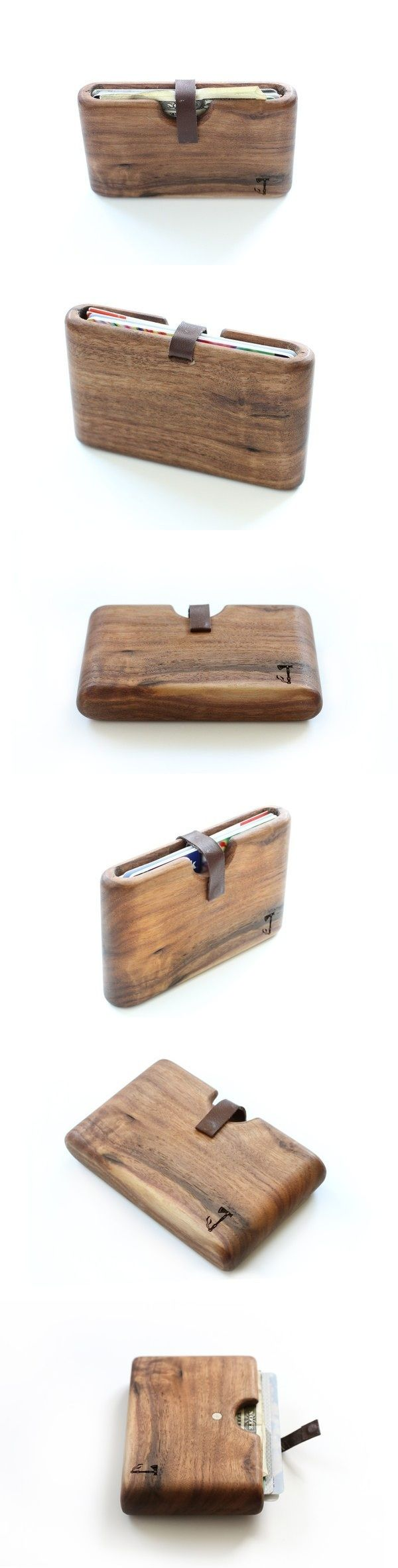 The walnut wood wallet is handcrafted out of a single piece of wood. Because of this it is extremely strong. It will not break if it's in your back pocket and is smaller than many normal sized wallets.