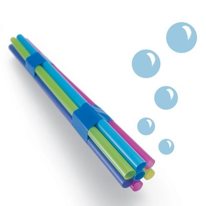 This idea rocks! Multi-bubbles. Blow ton s of mini's all at once - Simple, cheap and fun.