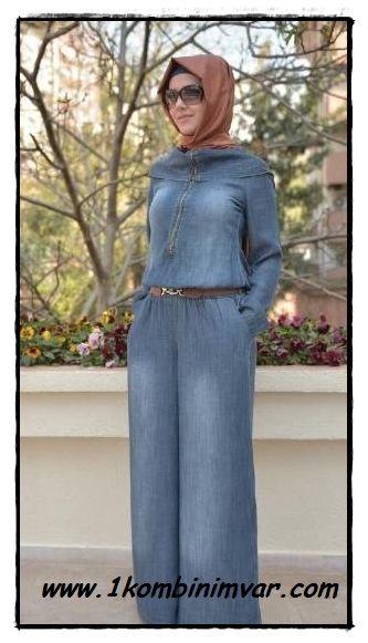 #moda #tulum #tesettür #giyim #kadın  Tesettür Tulum Modelleri