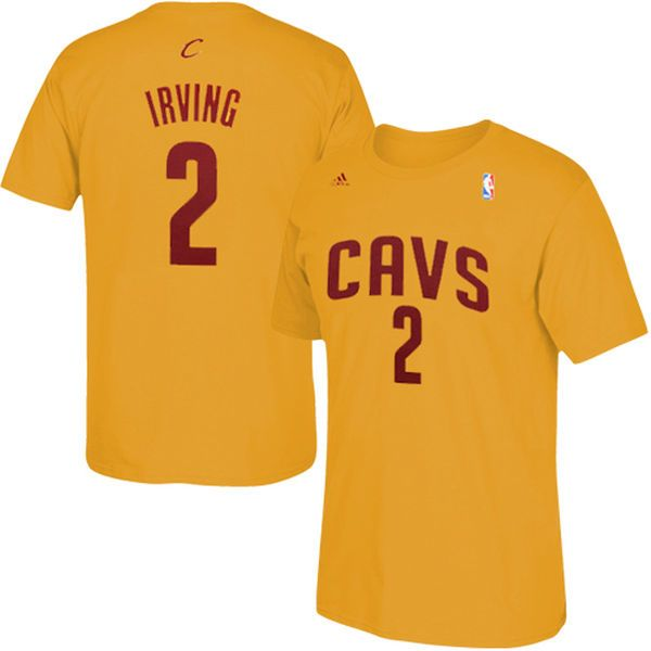Kyrie Irving Cleveland Cavaliers adidas Net Number T-Shirt – Gold - $27.99
