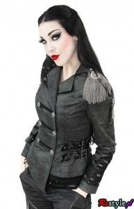 PUNK RAVE Y-306 Military double-breasted jacket like an officer`s uniform