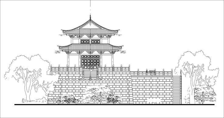 65 Best Chinese Architecture Drawing Chinese Temple Tower Chinese Building C