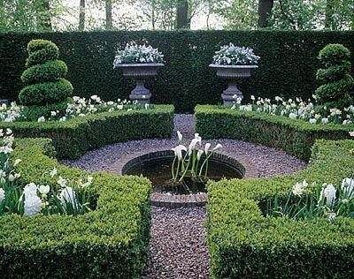 Formal small garden.