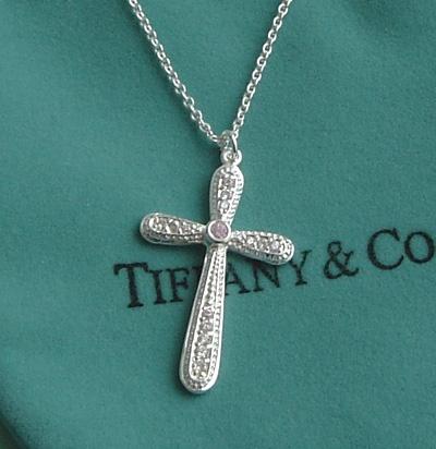 Tiffany and Co Diamonds Cross Flower Pendant