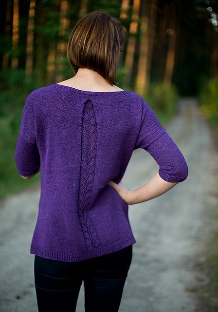 Ravelry: Wisteria Lane pattern by Hanna Maciejewska - Love the back of the sweater, not so much the front.