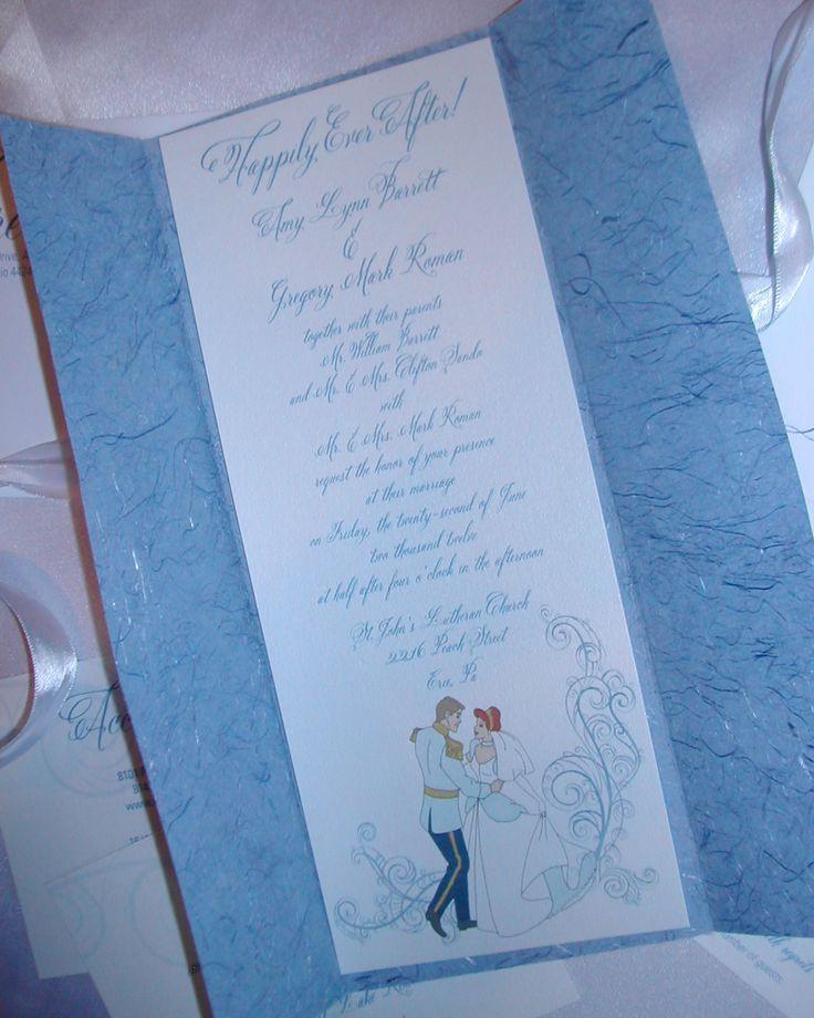 Cinderella themed Wedding Invite 45 best Disneyu0027s