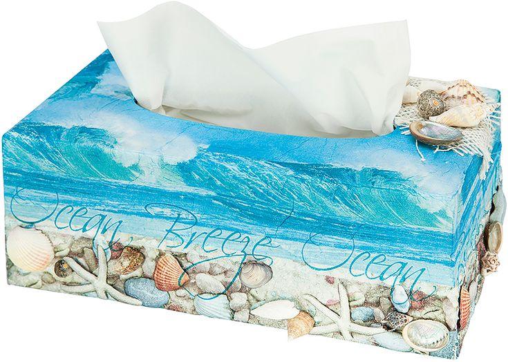 Anleitung: maritime Kosmetiktuchbox mit Serviettentechnik basteln | buttinette Blog