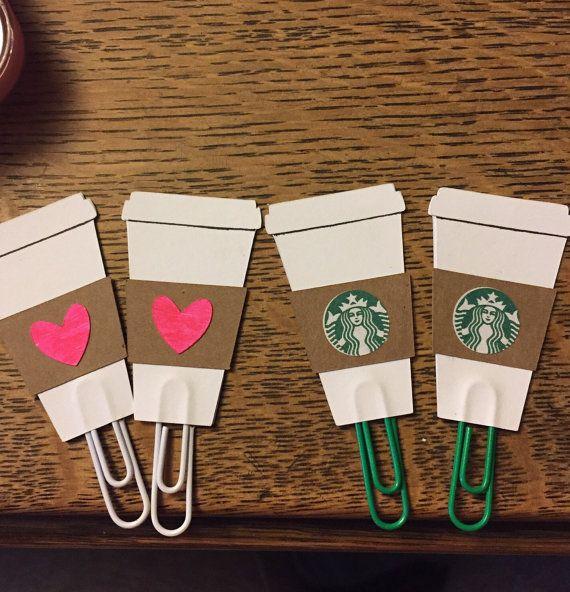 A coffee addict planner must! Love #etsy Starbucks Inspired Paperclip- Perfect for Erin Condren, Plum Paper, Filofax, or Kikki K