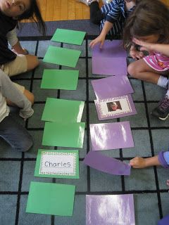 Memory with our friends picture and name! Get to know each other at the beginning of the year