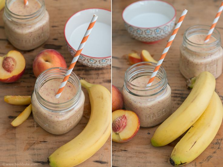 Pfirsich-Banane-Kokos-Smoothie - easypeasy