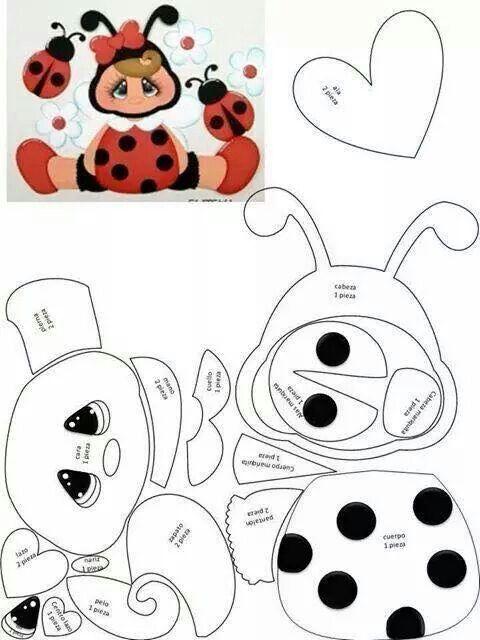 ladybug girl pattern