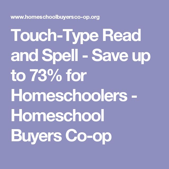 Touch-Type Read and Spell - Save up to 73% for Homeschoolers - Homeschool Buyers Co-op