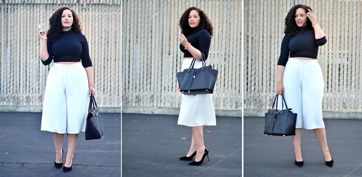 Culottes sind toll für Plus-Size-Frauen