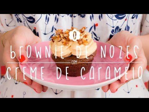 Doce Cozinha #12 - Brownie de Nozes com Creme de Caramelo - YouTube