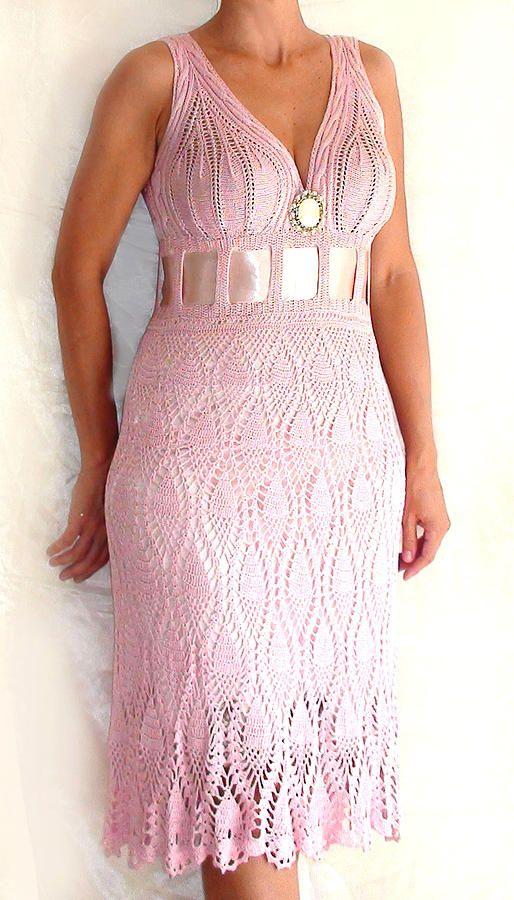 Knitting Summer Dress : Summer dress knit crochet pinterest