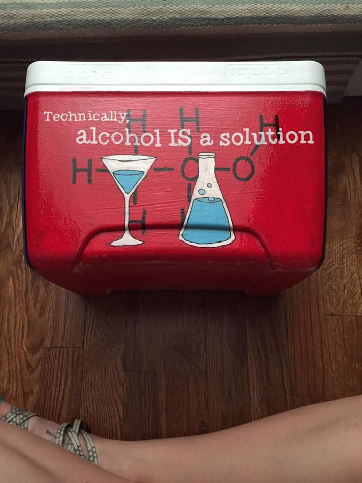 chemistry drinking humor fraternity cooler
