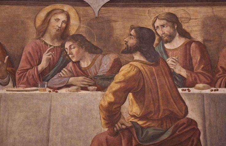 Ghirlandaio Last Supper detail. Refettorio della Chiesa di Ognissanti.