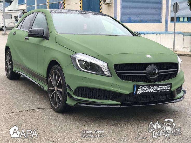Military Green (CW/84.0-HX)  #apaspa #apafilms #ultramatt #greenultramatt #militarygreen #pellicoleadesive #carwrapping #carwraps #apainside