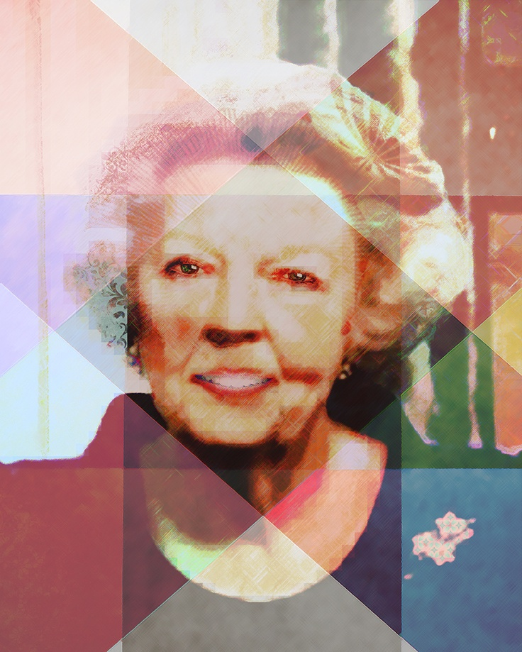 Inzending aDONNAdesign (fotokunst) contest dutch Queen: Beeld van Beatrix