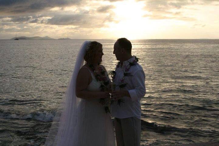 Sunset wedding ceremony!
