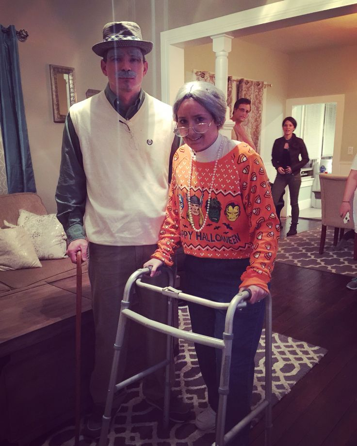 Old people Halloween costume
