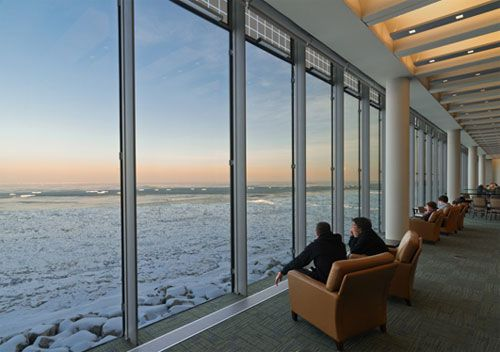 Loyola University Chicago.... The view from the library. #largewindows