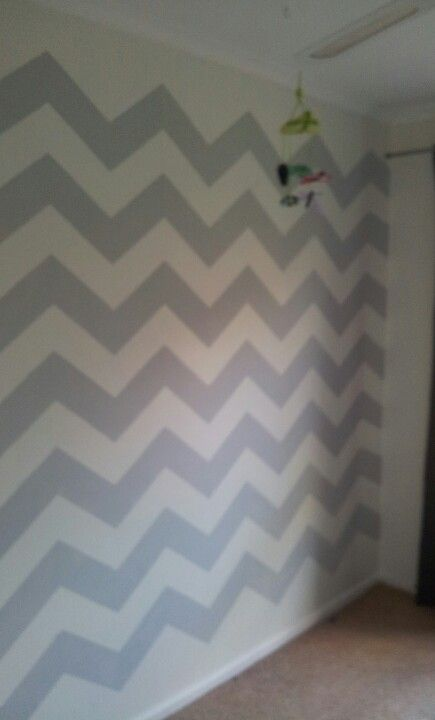 Current work space, empty room with grey chevron