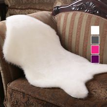 Soft Hairy Carpet Sheepskin Chair Cover Bedroom Faux Rug Pad Skin Fur Plain Fluffy Area Rugs Washable Artificial Textile tapetes(China (Mainland))