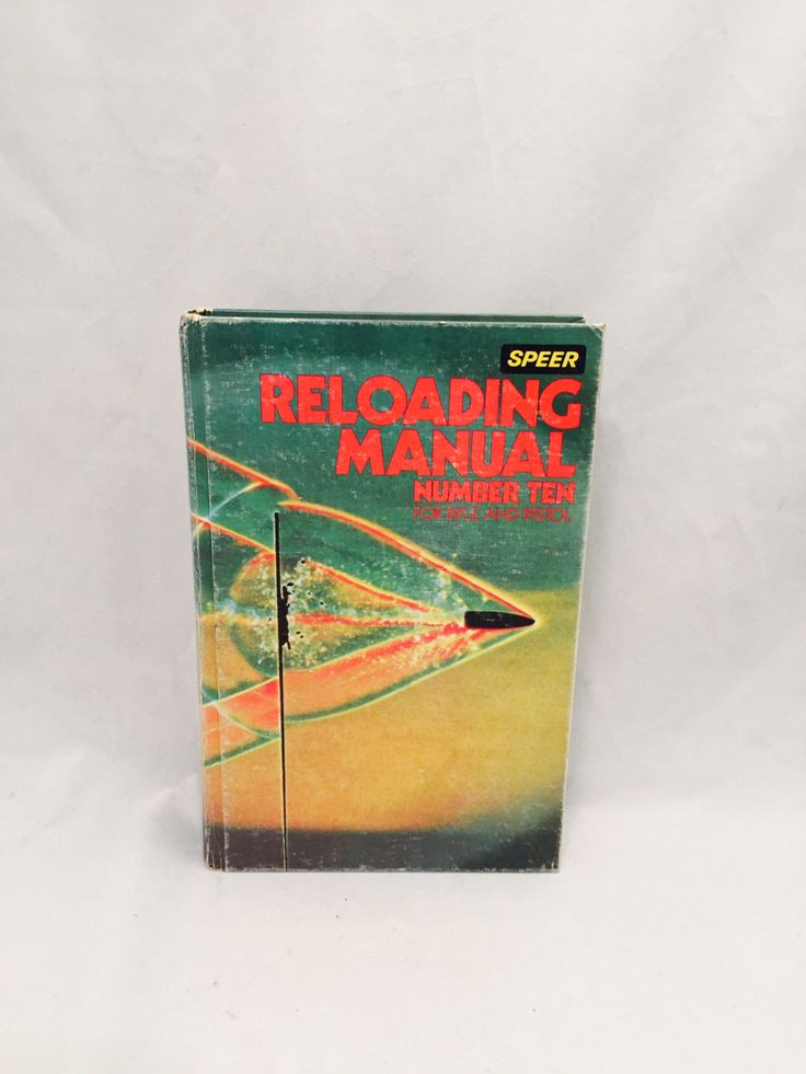 Speer Reloading Manual, Ammunition, Rifle Pistol, Number 10, 1979-80, Reference Book, Hard Back by missenpieces on Etsy