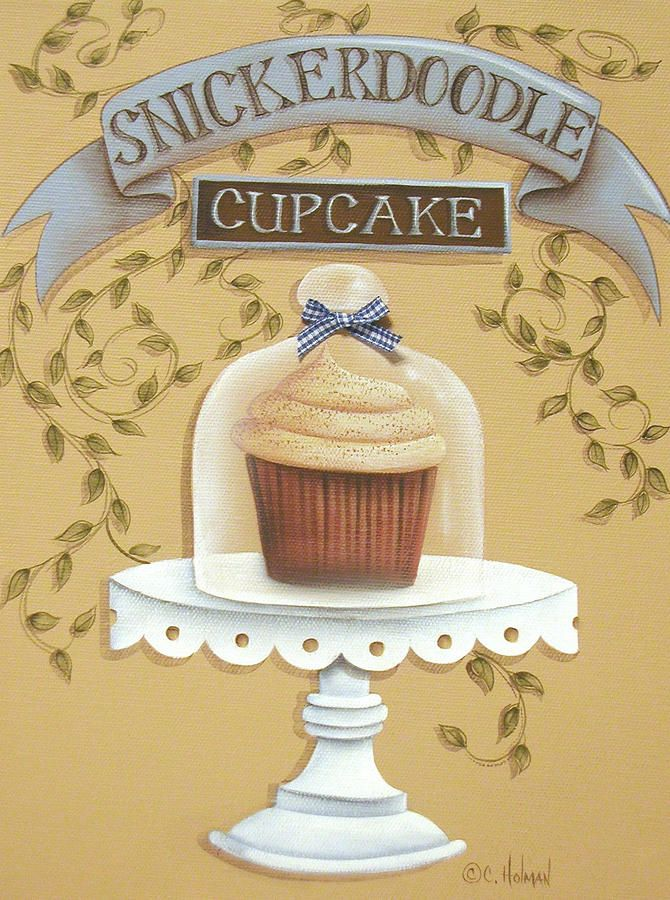 Snickerdoodle Cupcake Painting - Snickerdoodle Cupcake Fine Art Print