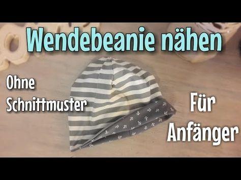 DIY Mütze nähen für Anfänger - Wendemütze, Beanie aus Jersey - pattydoo Schnittmuster - YouTube