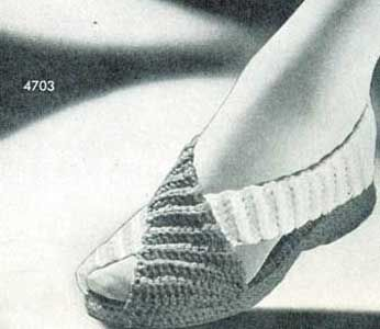 Cross Strap Play Shoes Pattern | No. 4703 | Crochet Patterns