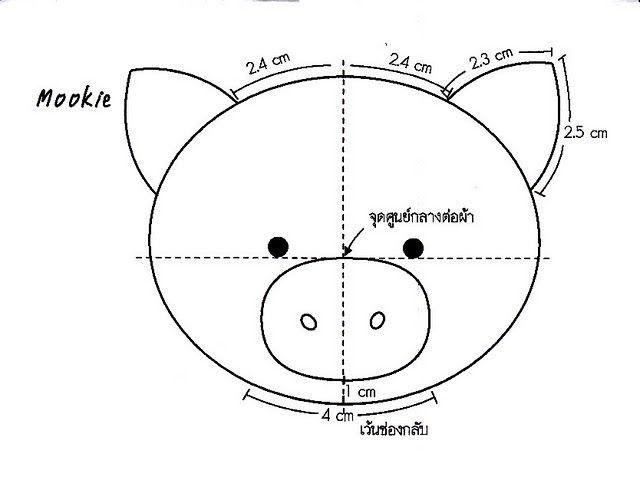 porco feltro molde - Pesquisa Google