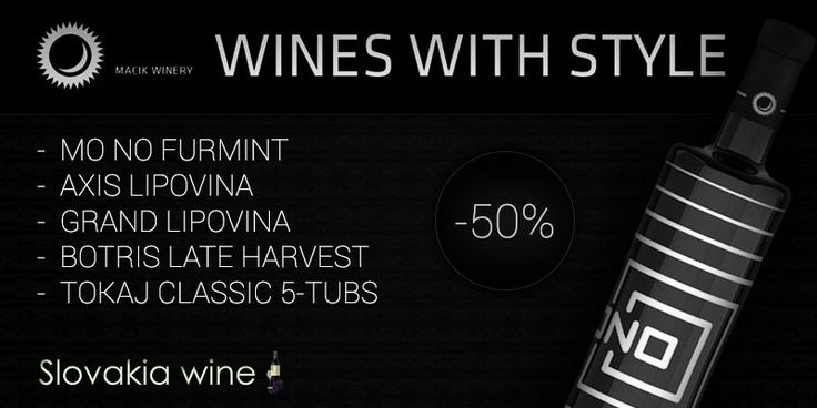 50% discount on wines by Tokaj Macik Winery