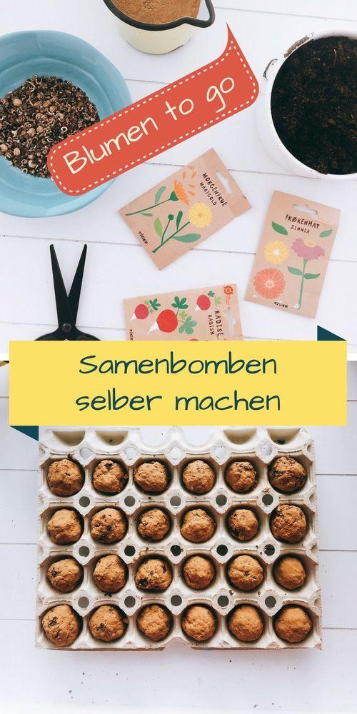 Samenbomben selber machen, DIY, basteln, Blumenwiese to go, einfach & schnell, O…