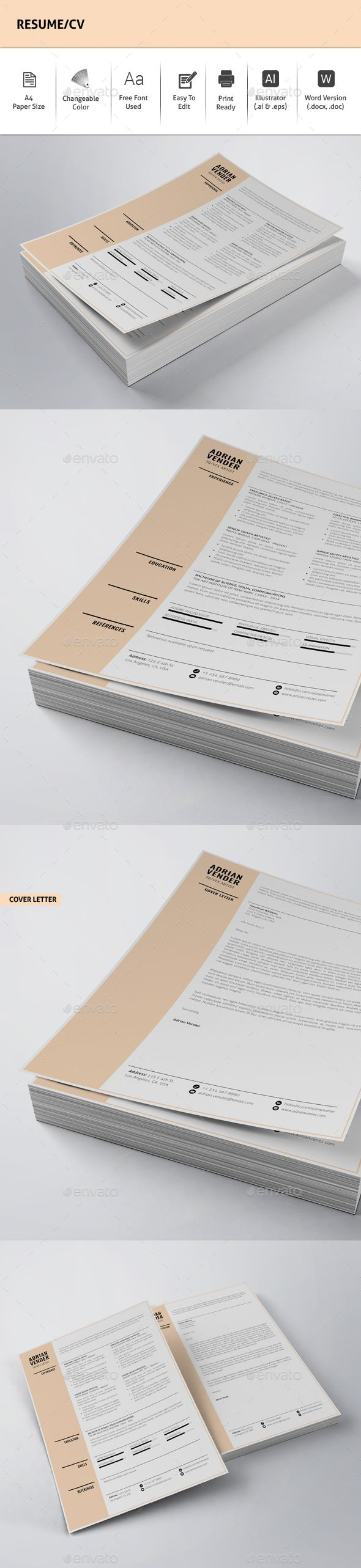 23 Best Resume Images On Pinterest Resume Design Print