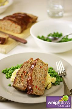 Healthy Dinner Recipes: Meat Loaf. #HealthyRecipes #DietRecipes #WeightlossRecipes weightloss.com.au