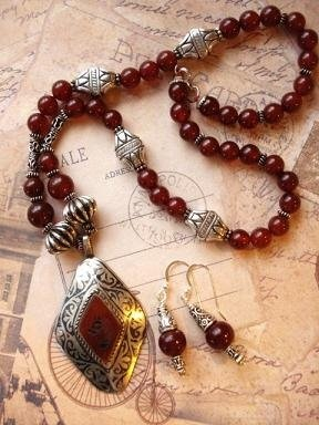 Earrings to Match a Middle Eastern Necklace - The Beading Gem's Journal