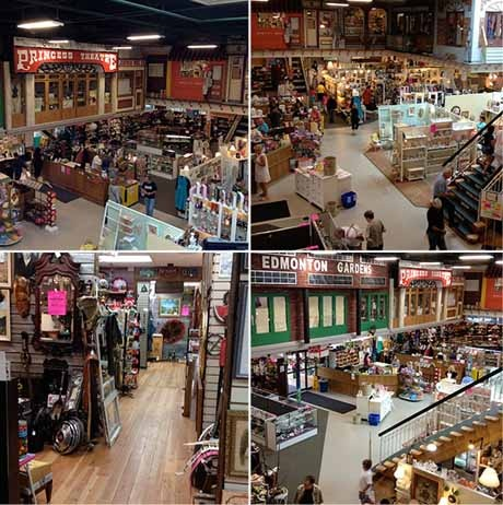 The Old Strathcona Antique Mall in Edmonton is a 27,000 square-foot space that hosts over 150 antique and collectible vendors under one roof.