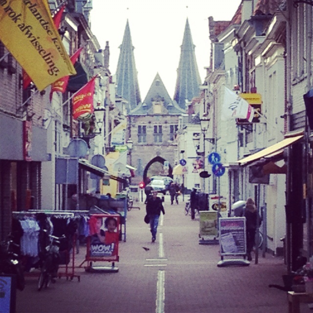 The old city gate in Kampen