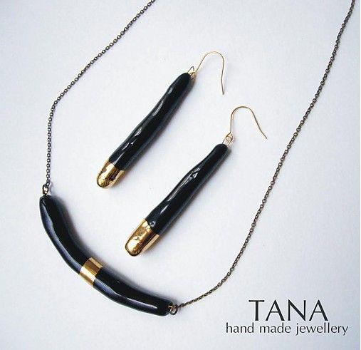 Tana šperky - keramika/zlato